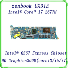 For Asus Zenbook UX31E motherboard with i7-2677M CPU HD Graphics 3000 QS67 SR0D2 Tested Free shipping