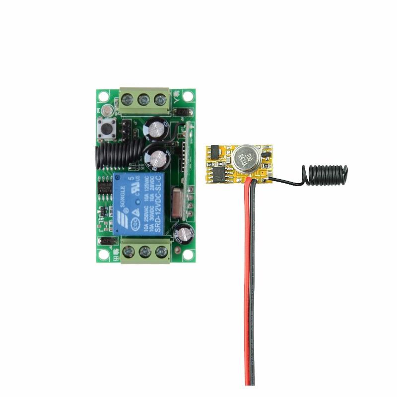 Encoding Transmitter Module PCB + 12V DC 10A Receiver RF 3V 3.7V 4.5V 5V 6V 9V 12V Transmitter Receiver Remote Control Switch dc3v dc12v 3v 5v 9v 12v mini rf transmitter module for sensor detector inductor with receiver ac220v 10a 100 300m transmitter