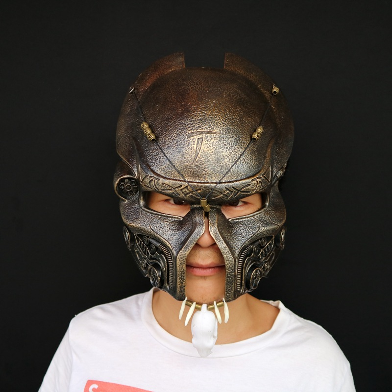 Predators Airsoft Full Face Mask Resin Masquerade Party Halloween Scary Cosplay Costume Props Game Collectible Model Toy L1704 predator design face mask halloween props