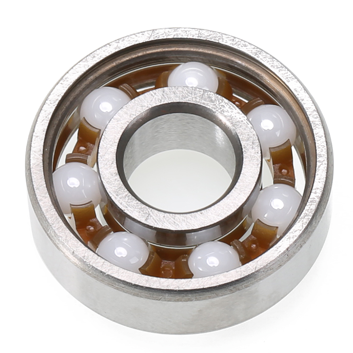 1PC Hand Fidget Spinner Ceramic Speed Ball Bearings ZrO2 Zirconia 608 8*22*7mm Round Mini Ball Bearing Shafts Tool image