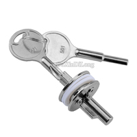 Brand New 5sets Sliding Glass Cabinet Lock Perfect For Showcase Display Jewelry Cabinet Door Lock With