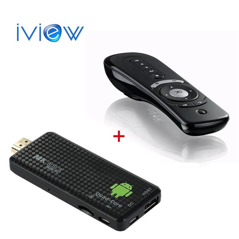 In Stock MK809IV 2GB+16GB Android TV Box HDMI Dongle Mini PC Quad Core RK3229 WIFI Bluetooth TV Stick + T2 remote for free gift w5 tv dongle quad core intel z3735f windows10 mini pc tv box 2gb 32gb bluetooth hdmi tv stick