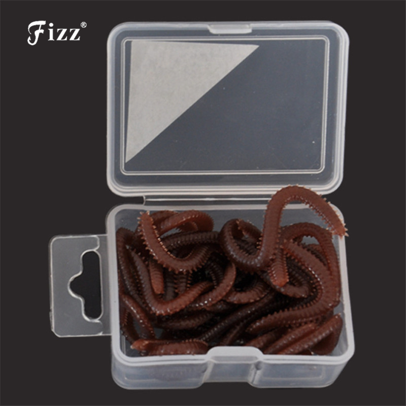 15pcs / box Artificial Worm Worms Simulation Fishing Lure Tackle Soft Bait Lifelike Fishy Smell Lures Red Gray Hot Sale rompin 50pcs lot 3 5cm simulation earthworm red worms artificial fishing lure tackle soft bait lifelike fishy smell lures red