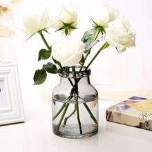 Modern Creative colorful bubble glass vase transparent bottle hydroponic containers flowerpot wedding Home Decoration plant