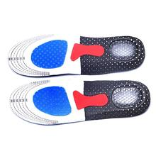 1 Pair Orthotic Arch Support Sport Shoe Pad Sport Running Gel Insoles Insert Cushion for Men Women foot care tools(China)