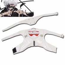 Tokyo Ghoul Kaneki Ken Masks Cosplay Adjustable Zipper Faux Leather White Mask Halloween Hot sale New