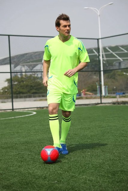 Men breathable soccer jerseys sets