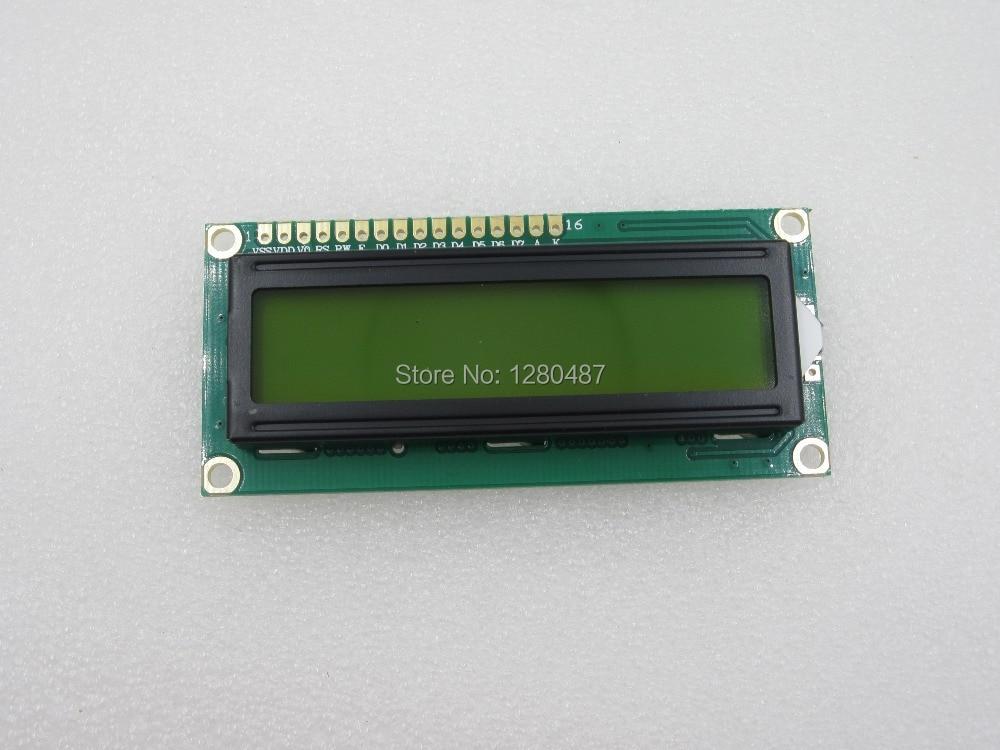 ГОРЯЧАЯ 30 ШТ./ЛОТ LCD1602 ЖК 1602 желтый/синий экран с подсветкой ЖК-дисплей 1602A-5v