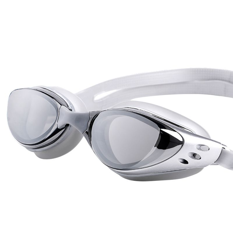 Justerbar Vattentät Anti Fog UV-skydd Vuxna Professionella Färgade Linser Simbassäng Glasögon Glasögon Simning Glasögon