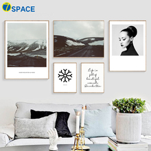 Mountain Road Girl Quote Landscape Nordic Posters And Prints Wall Art Canvas Painting Pictures For Living Room Quadro Decor