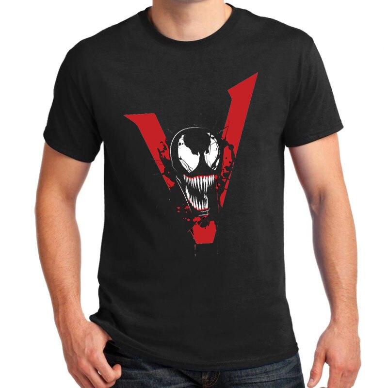 venom 2018 movie t shirts men black tees tops short sleeve casual fashion t shirts we are venom. Black Bedroom Furniture Sets. Home Design Ideas