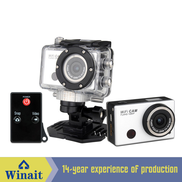 ФОТО At a glance! Mini Waterproof Action Camera DV-126+WIFI Remote Control Full HD 1080P Micro USB and SD Sports Digital Camera