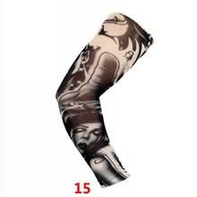 ┽ 1 ШТ. Кожи Защитный Нейлон Эластичный Поддельные Временные Татуировки Рукава Рука Чулки Дизайн