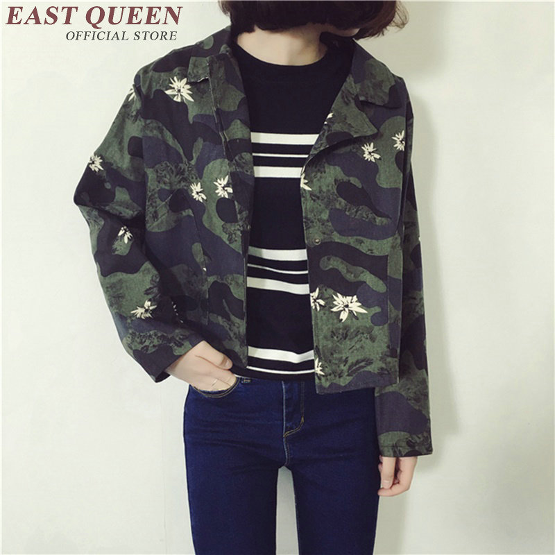Online Get Cheap Printed Military Coat Women -Aliexpress.com ...