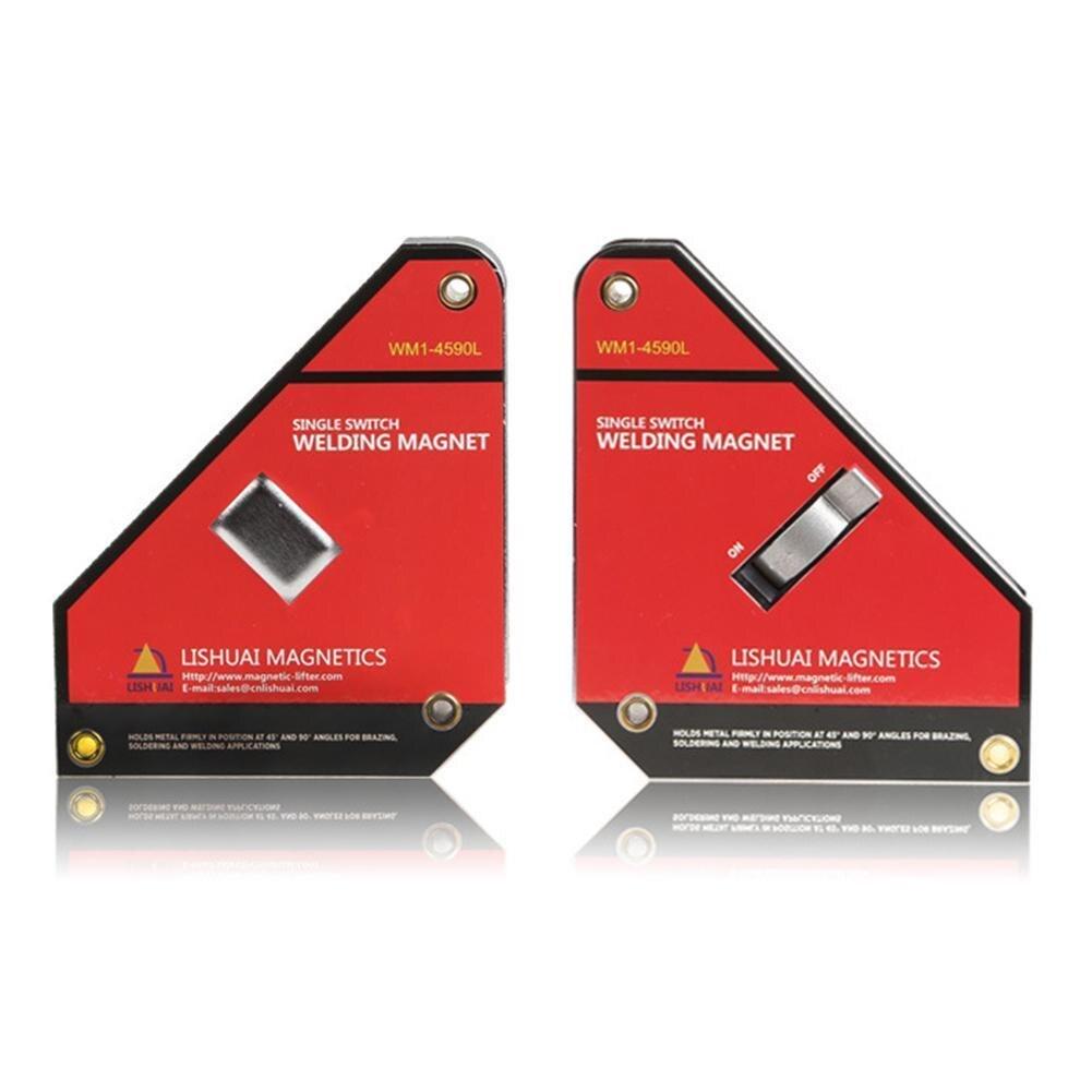 1 piezas fuerte solo interruptor imanes de neodimio soldadura soporte en/apagado pinza magnética imán cuadrado 45 90 grados