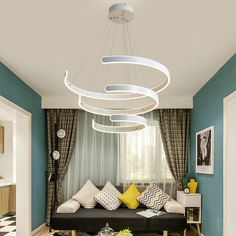 Modern LED Pendant Lights for lampada led Living room Hotel Simple fashion C shape indoor lighting led strip pendant lamp цена и фото