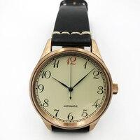 Men's New Automatic pilot watches 50m Water Resistant ST2130 Movement sapphire glass Vintage Bronze Retro Wristwatch for male