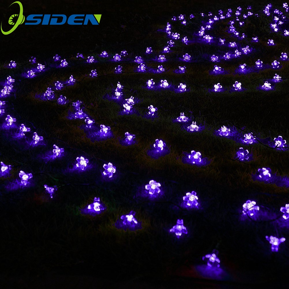 7M Solar String Christmas Lights Outdoor 23 ft 50 LED 3Mode Waterproof Flower Garden Blossom Lighting Party Home Decoration 6