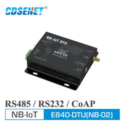 E840-DTU(NB-02) RS232 RS485 NB-IoT Wireless Transceiver IoT Serial Port Server CoAP UDP Band5 868MHz Transmitter and Receiver