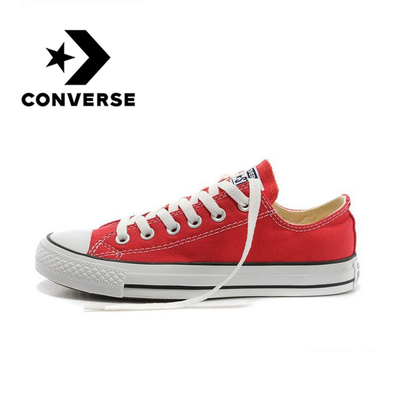 Converse Unisex Skateboarding Shoes Authentic Comfortable Classic Canvas Low Top Anti-Slippery Light Balanced Casual Sneakers
