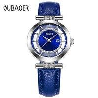 OUBAOER Лидирующий бренд Женские кварцевые наручные часы бизнес часы для женщин модные часы подарок для женщин Relogio Feminino