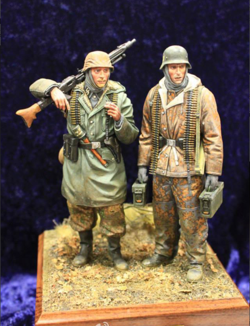 1:16 Resin Figures Soldiers  (2pcs/lot) Model Kit  Unpainted
