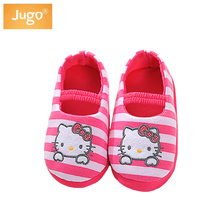 Girls Slippers Children Winter Shoes For Home Use Baby's Cute Cat Pink Slippers Girls 1-5 Years Winter Warm Shoes Kids Boys