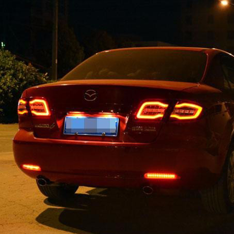 Car taillight for Mazda 6 Taillights Mazda6 2004 2013 Classic LED Tail Lamp Rear Lamp DRL+Brake+Park+Signal led light back