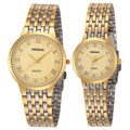 New Couple Watches WOONUN Top Brand Luxury Gold Ultra Thin Quartz Watches Women Men Lovers Watch Set Valentine Gift