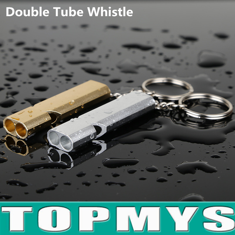whistles повседневные брюки 2017 Aluminum Alloy whistle for Boating Hiking Emergency Survival Life Vest Rescue Signal Double tube outdoor survival whistles