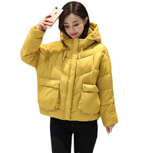 2018 High Quality Women Winter Jacket Fashion Girls Hooded Bread Parkas Female Casual Oversized Warm Wadded Coat Outwear