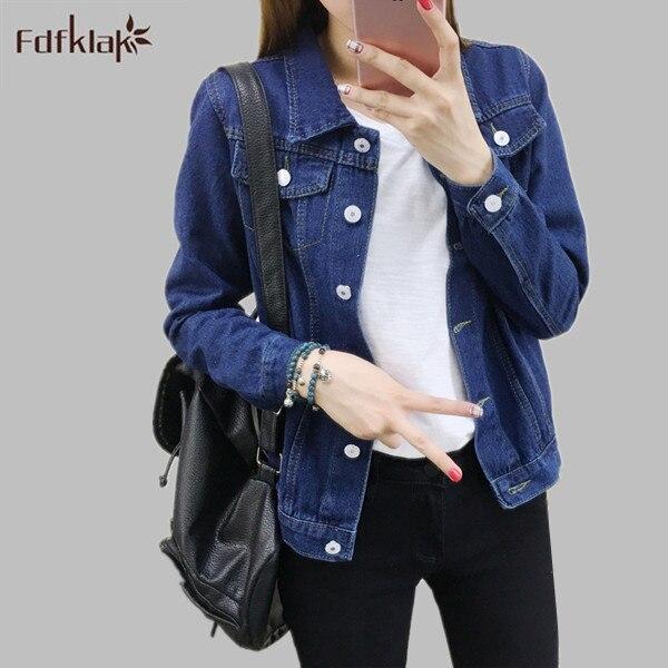 2017 Baru Wanita Musim Gugur Mantel Ukuran Besar Cetak Antik Perempuan  Denim Jaket Musim Semi Mantel wanita Jeans Jaket S XXL E1208 di Jaket dasar  dari ... 8319a650f6