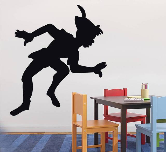 Adesivi Murali Peter Pan.G158 Silhouette Del Peter Pan Della Decalcomania Della Parete Home Decor Art Elf Ragazza Adesivi Murali Personalita Adesivi Murali Camera Dei Bambini