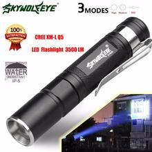 DC 21 Shining Hot Selling Drop Shipping   Mini 3500LM Zoomable CREE Q5 LED Flashlight 3 Mode Torch Super Bright Light Lamp