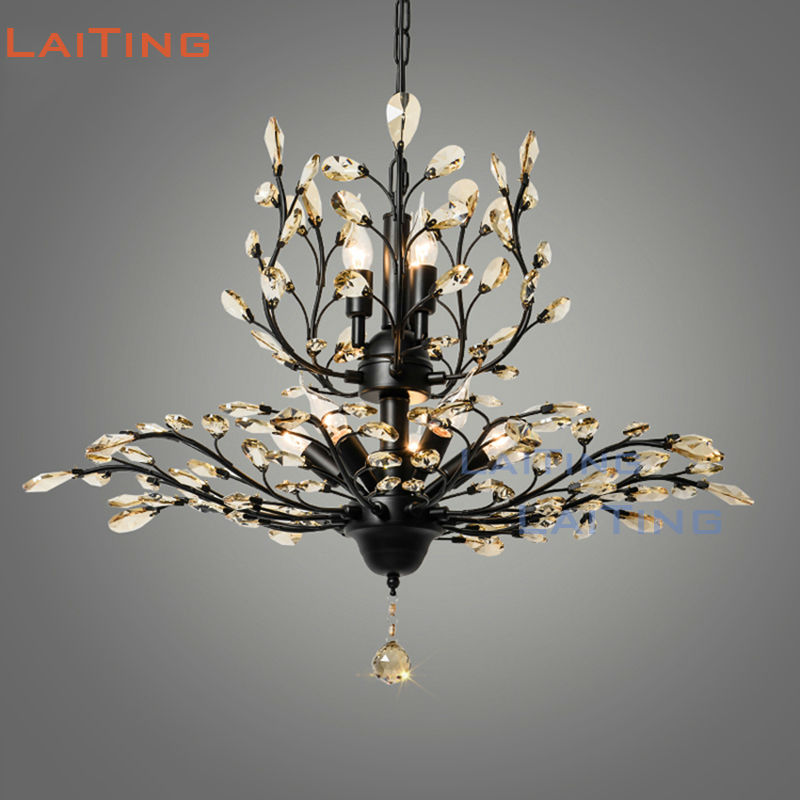 American Country Modern Style Tree Leaf Chandelier K9