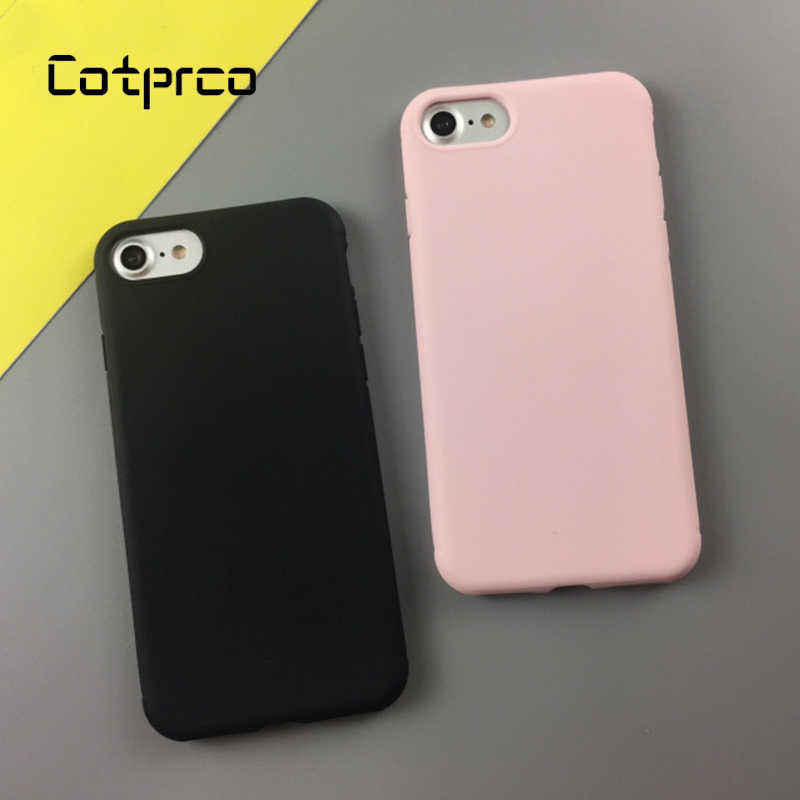 Macio doce Cor de Volta Caso de Telefone Para o iphone X 7 8 Plus 6 s Caso Matte TPU Capa Para Apple iPhone 6 Plus 8 7 Original Tampa Do Telefone