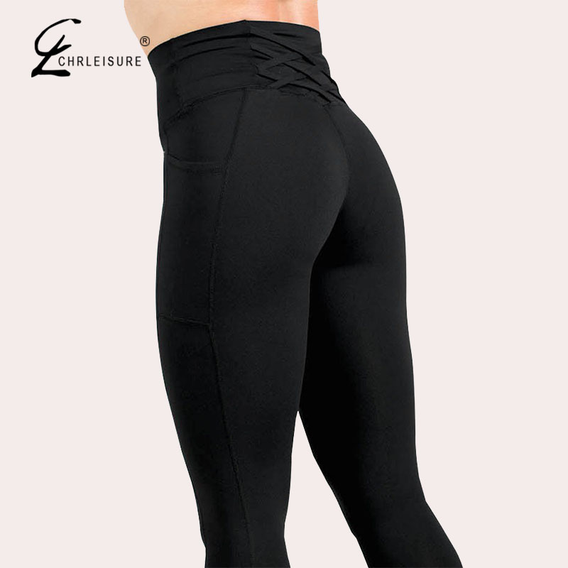 High Waist Workout   Leggings   For Fitness Sexy Pocket Pants 2019 New Activewear Black   Leggings   Women Clothing
