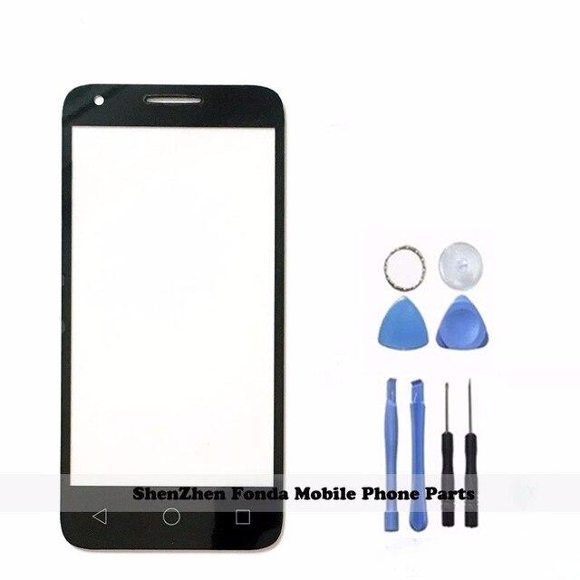חדש שחור/לבן עבור Alcatel One Touch 5019 5019A 5019X 5019D Pixi 3 4.5 קדמי חיצוני זכוכית עדשת תיקון מגע מסך חיצוני זכוכית