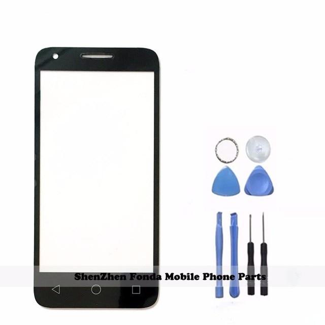 NEW Black/White Đối Với Alcatel One Touch 5019 5019A 5019X 5019D Pixi 3 4.5 Front Outer Glass Sửa Chữa Ống Kính màn Hình cảm ứng Kính Thủy Tinh Bên Ngoài