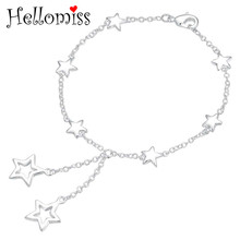 8 Inch Star Heart Bracelets for Women Silver 925 Jewelry Chain Bracelet & Bangle Romantic Valentine's Day Gifts Pulseras Femme women bracelets silver dragonfly bracelet for women romantic bracelets silver 925 jewelry