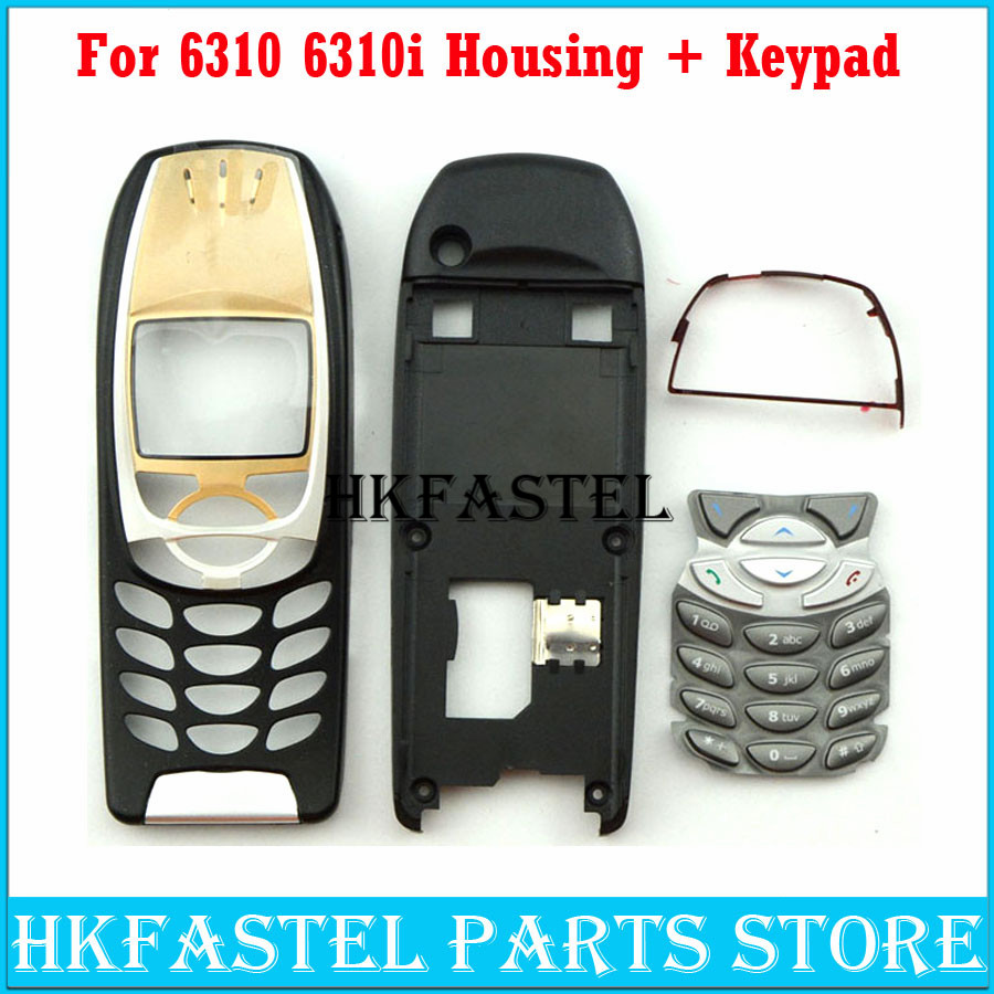 For Nokia 6310 6310i High Quality New Full Complete Mobile Phone Housing Cover Case + SILVER Keypad+Tools, Free Shipping