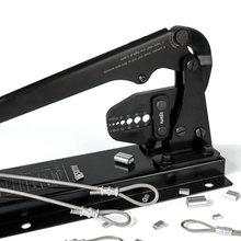 Настольный Стенд+ ложки с длинной ручкой, труда экономит наконечник Пресс плоскогубцы обжимной инструмент для 1,5-5 мм 3/64-3/16IN все наконечник веревочка провода нержавеющей стали
