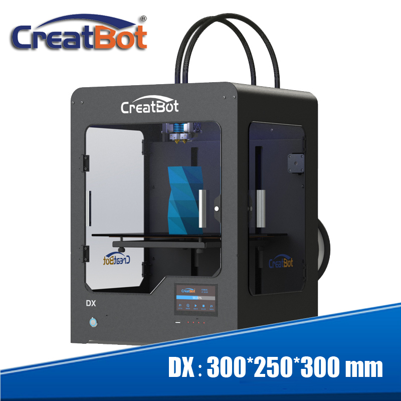 300 * 250 * 300 मिमी बड़े आकार का क्रिएटबॉट DX03 3 डी प्रिंटर ट्रिपल एक्सट्रूडर / नोजल हीटेड बेड 3KG एएए