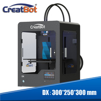 300*250*300mm Big Size Creatbot DX03 3D Printer Triple Extruder/Nozzles Heated Bed 3KG PLA Filament