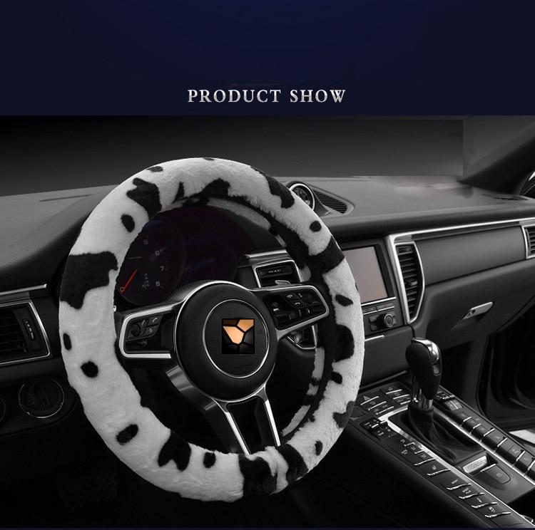 Car Styling Күзгі Қысқы Сүт Сиыр Басып - Автокөліктің ішкі керек-жарақтары - фото 3