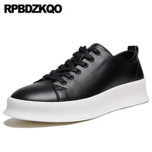 Hidden Height Increasing Shoes 2018 Creepers Lace Up Spring Sneakers  Trainers Rubber Fashion New Men Skate Casual Black Elevator d832c5d32ed6