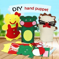 1pc Random Styles DIY Hand Puppets Cloth Doll For Baby Educational Toy Story Telling Fantoche Animal Plush Toy For Children S2