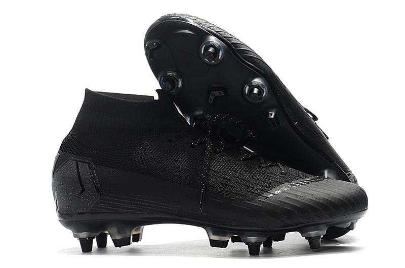 2018-2019 ZUSA Haute Cheville Superfly VI SG AC Football Bottes Hommes pas cher prix haute qualité de Football Chaussures Crampons ventes