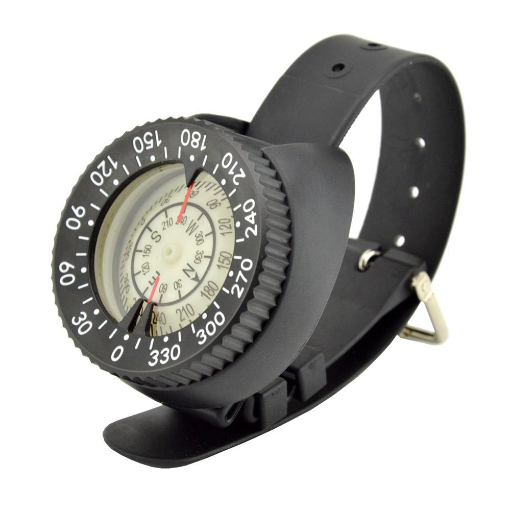 Diving Compass High Precision Professional Wrist Diving Compass 50M 164 Feet Outdoor Compass Fluorescent Dial