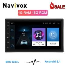 """Navivox 7 """"2 Din GPS Per Auto Radio Player Android 8.1 GO Universale Radio di Navigazione GPS Audio Player Per Nissan toyota Hyundai Polo"""